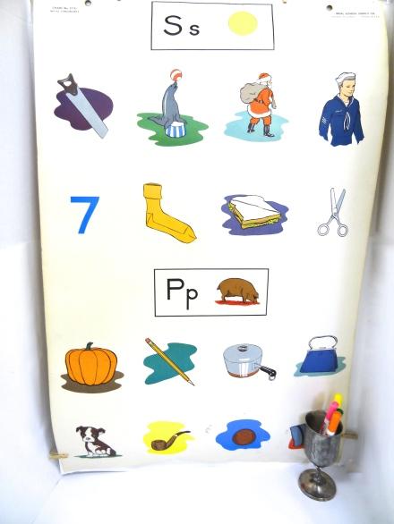Vintage School Poster 'Letter P'